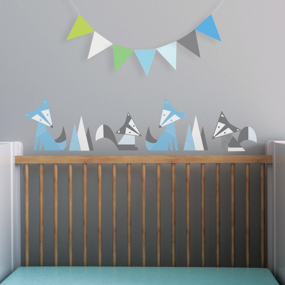modern baby nursery wall decal and wall decal in custom