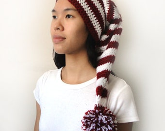 Long Stocking Cap (5 Sizes) - PDF Crochet Pattern - Instant Download