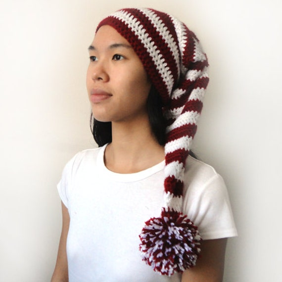 Crochet Pattern Stocking Hat : Long Stocking Cap 5 Sizes PDF Crochet by CrochetSpotPatterns
