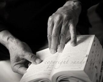 Hands with Book - A Fine Art Photograph