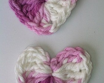 Pair of Hearts in Lavender and White...... Embellishments, Applique