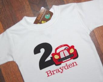 Race Car Birthday Shirt, Monogrammed, Racecar Birthday Shirt
