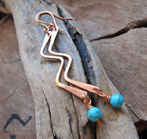 Earrings Findings Set - Handmade Jewelry Findings Kit - Copper Earwires, Curved Bar, Drop Dangles - Handcrafted Supplies