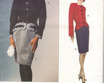 Vogue Patterns Geoffrey Beene 1354  Peplum Jacket