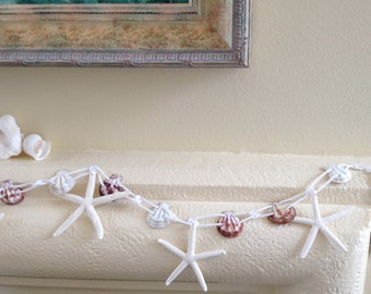 Beach Decor Starfish and Shell Garland - 3 ft. - Beach or Nautical Decor
