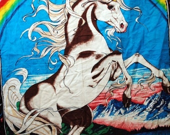 Vintage Unicorn Tapestry Wall Hanging
