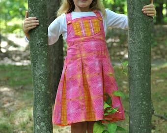 Girl's Dress, Party Dress, Girl Sundress, Girl Dresses, Girl Clothing, Toddler dress, Jumper, Cute, Pink Dress, Boutique, Size 2T - 10