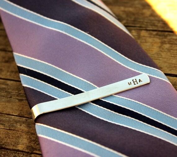 custom tie bar tie clip tie bar with monogram