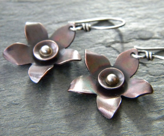 https://www.etsy.com/listing/112983004/copper-flower-earrings-sterling-silver