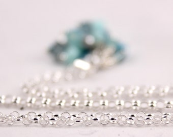 """Sterling Silver Rolo Chain 18"""" Spring Ring Clasp"""