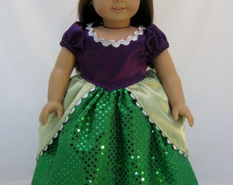 American Girl Sized Ariel Princess Gown and Crown