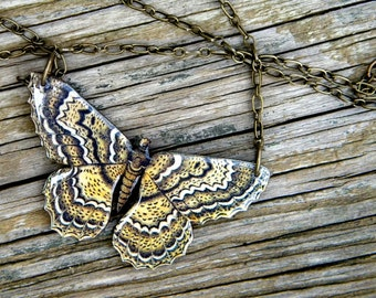 Moth Necklace (Brown) - As seen in Country Living Magazine