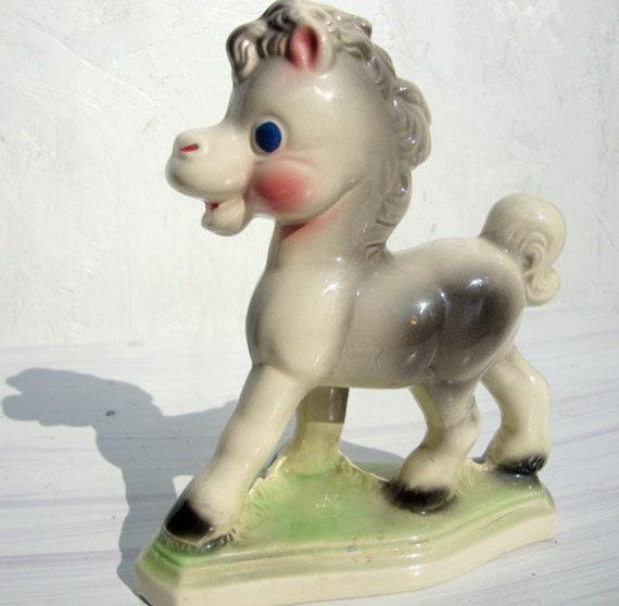 Vintage Kitsch Horse Statue