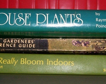 Gardening Books, 3 Hardback Illustrated How To Books, Vintage from 1954, 1974, 1976, Color Pictures, Outdoor, Indoor, Flowering Plants