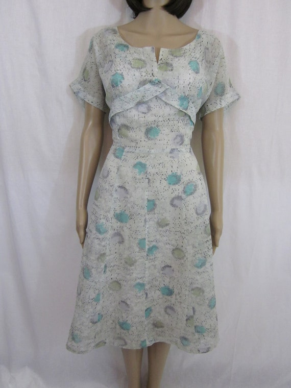 1950s Sheer Dress with Atomic Design