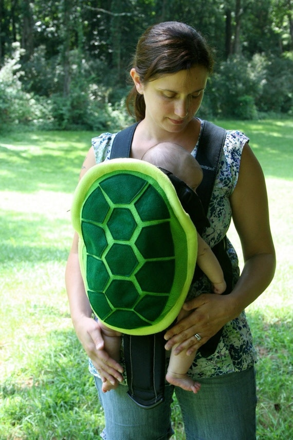 Turtle Shell Baby Carrier Accessory Bjorn, Ergo, Tula Cover with Huge Storage Pocket