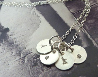 Initial Jewelry, Initial Charm Necklace, Silver Initial Necklace, Gift under 40, Mother's Necklace, Personalized Jewelry by m. frances