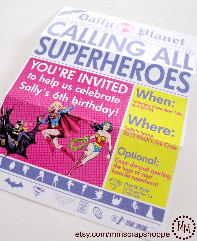 balloon birthday party invitation for little girl