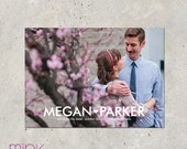 "save the date photo card - ""Modern Love"""