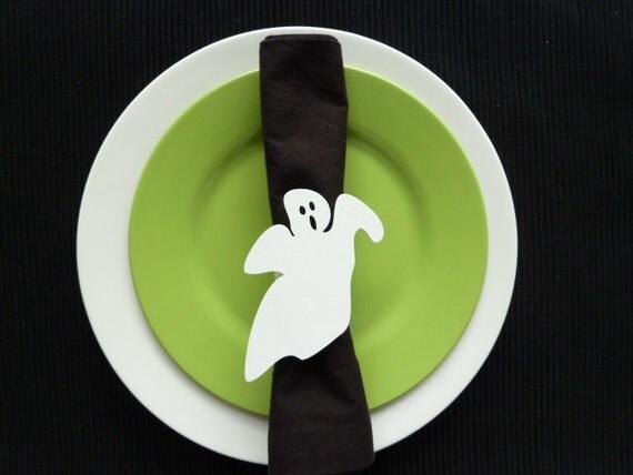 Halloween Ghost Napkin Rings - Set of 4