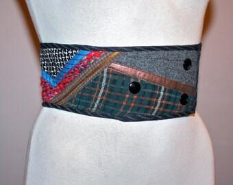 KOOS Van Den Akker Vintage COUTURE Patchwork Belt Wide Corset - AUTHENTIC -