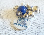 Dallas Cowboys Fan Inspired Changeable Cluster Charm or Keychain