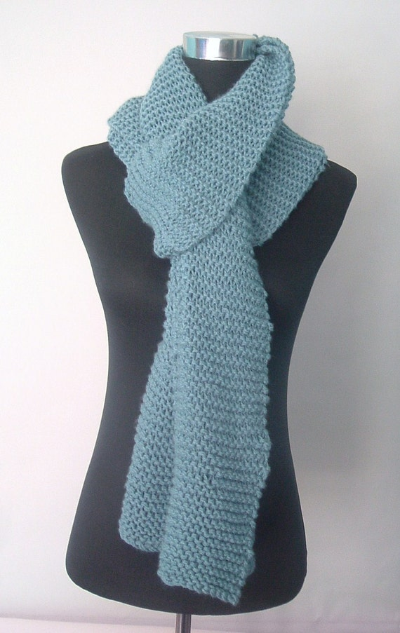 Chunky Scarf in Teal or Dark Turquoise - Extra Long and Extra Wide