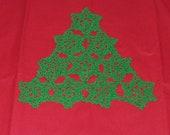 Pine Tree Centerpiece Doily - amydscrochet