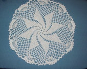 Pinwheel Doily Handmade Crochet White Cotton Doily Dream-catcher Craft Supply