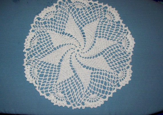 Pinwheel Doily Handmade Crochet White Cotton Doily Dream-catcher Craft Supply