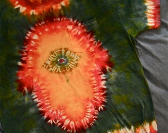 Hamsa Teeshirt, Custom Order with Choice of Colors.  Wearable Judaic Art.   All Cotton.