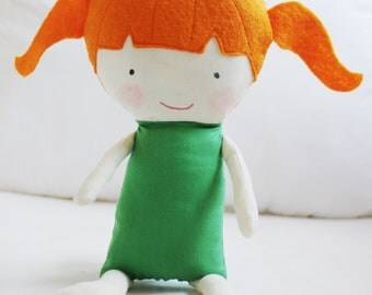 Doll Sewing Pattern Toy Cloth Doll Pattern PDF - Olive & Pea