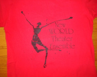 vintage tshirt NeW WoRLD THeATRE EnSEMBLE Medium new age hippie dance
