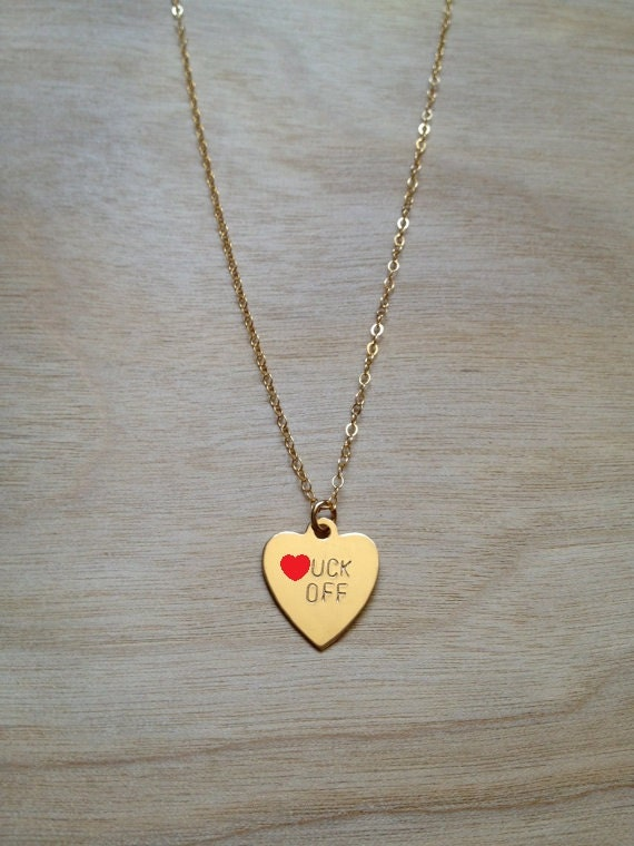 F.CK OFF Heart Necklace