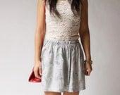 vintage skirt / 70s paisley skirt / Paisley Love Full Skirt