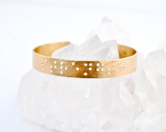CUSTOM BRAILLE BRACELET : Custom Engraved Cuff