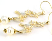 Birds and Pearls Earrings