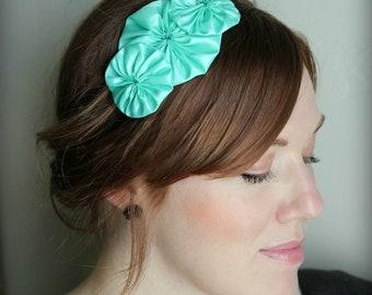 Mint Headband for Adults and Girls, Mint Flower Headband