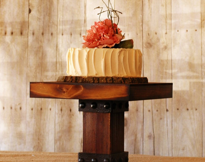 One Rustic Timber Style Cake Stand