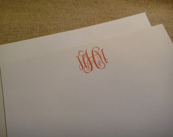 Custom Monogram Stationery Personalized Stationary - Monogram Traditional
