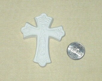 PEACE   3 inch cross   ceramic bisque   4 U 2 paint