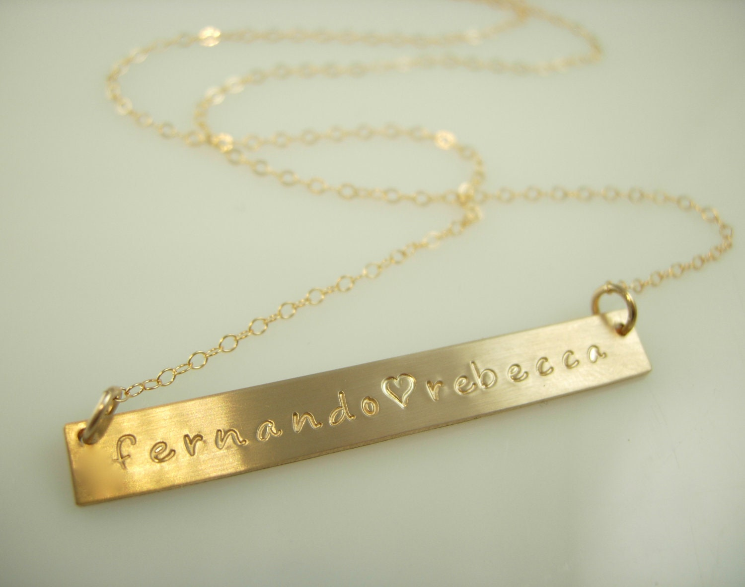 gold name bar necklace sted by jamesmichellejewelry