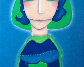 Bernadett Petzke lily dress in acrylic painting