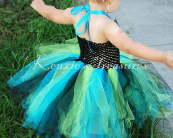 Create Your Own Crochet Tutu Halter Dress - Size 2T to 4T - Can Be Worn Different Ways