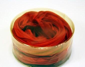 Scarlet Pleated Scarf in Box, Red, Retro, Petit Pleats, Neck Scarf,Neckerchief,Rockabilly,Rock n Roll,Rock, Headband, Free US Shipping