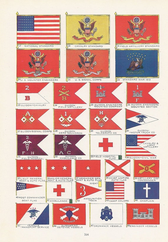 United States Army Flags American Military Vintage
