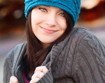 Crochet Pattern, Women's headband, Thick Marquise Diamond Headband - Instant Download Crochet Pattern.