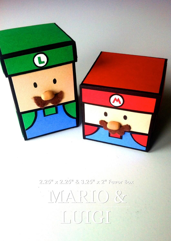Mario And Luigi Favor Box