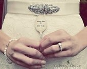 Keep Calm and Say I Do - Hand Stamped Vintage Spoon Wedding Marker