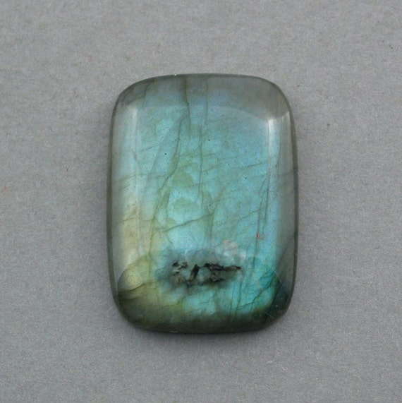 cabochon blue LABRADORITE rectangle 22X30mm designer cab
